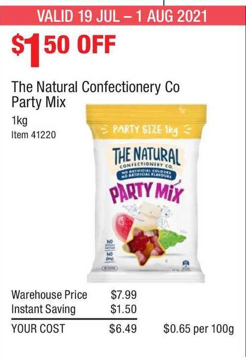 Costco The Natural Confectionery Co Party Mix