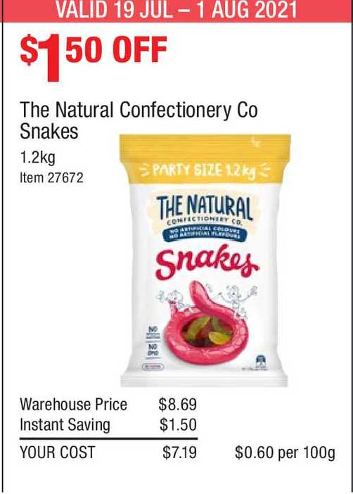 Costco The Natural Confectionery Co Snakes