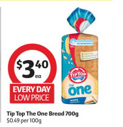 Coles Tip Top The One Bread 700g