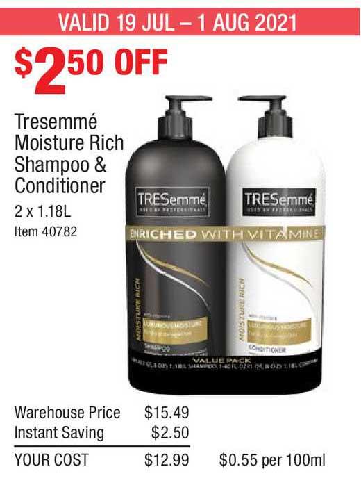 Costco Tresemmé Moisture Rich Shampoo & Conditioner