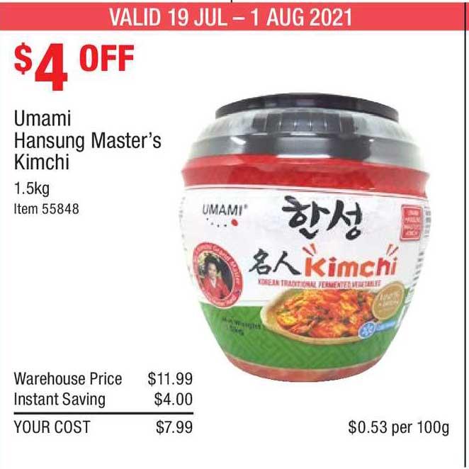 Costco Umami Hansung Master's Kimchi