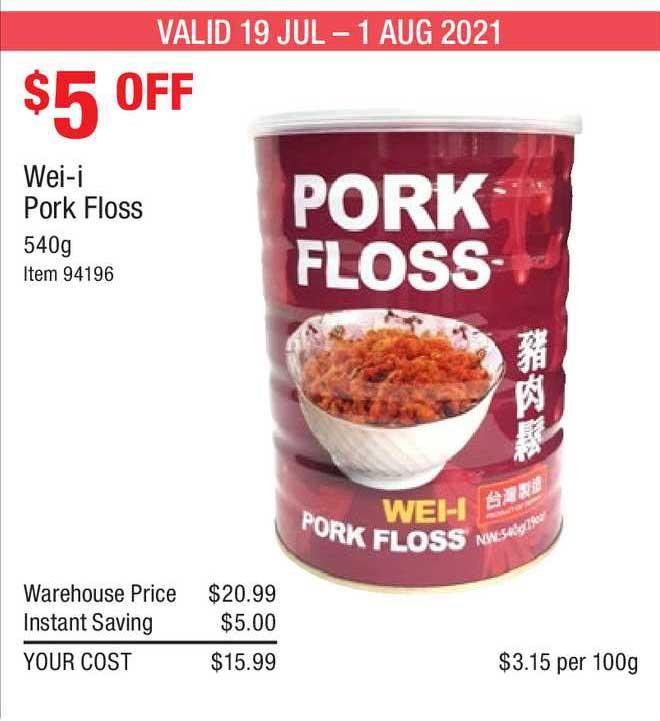 Costco Wei-i Pork Floss