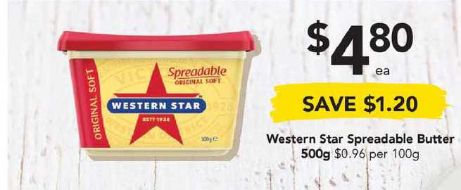 Drakes Western Star Spreadable Butter 500g