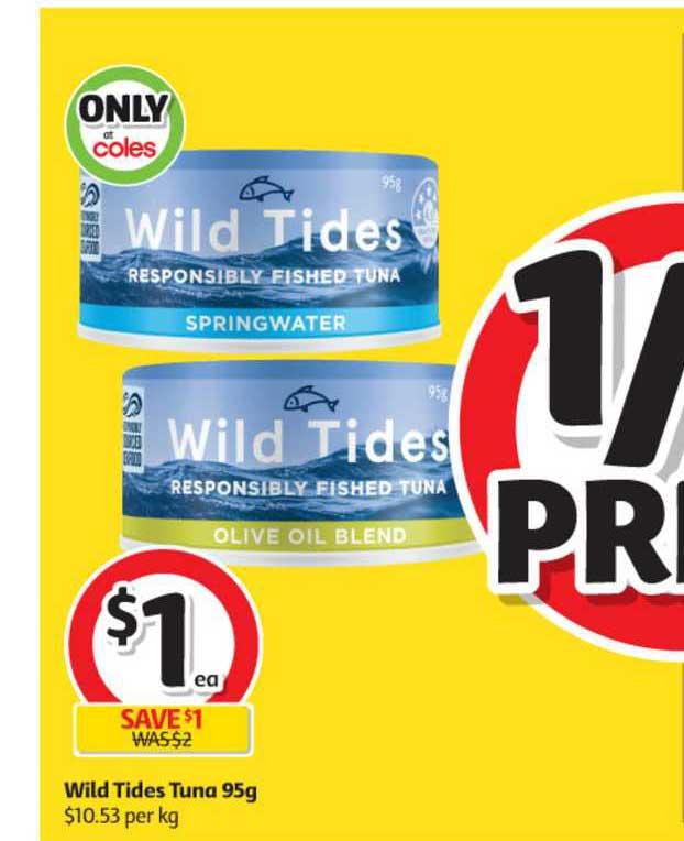 Coles Wild Tides Tuna