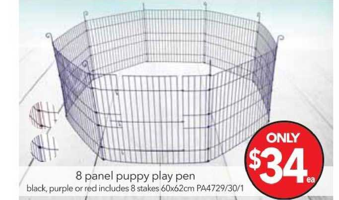Cheap As Chips 8 Panel Puppy Play Pen