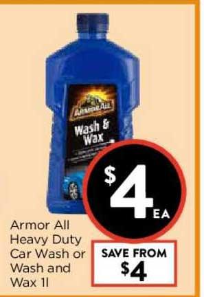 FoodWorks Armor All Heavy Duty Car Wash Or Wash And Wax 1L