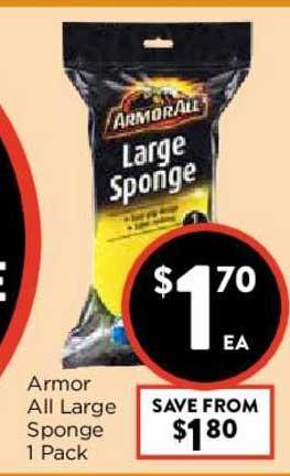 FoodWorks Armor All Large Sponge 1 Pack