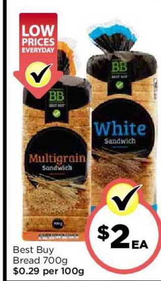 FoodWorks Best Buy Bread 700g
