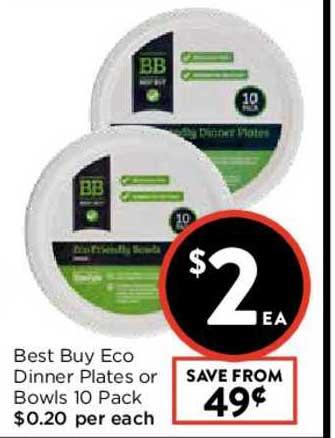 FoodWorks Best Buy Eco Dinner Plates Or Bowls 10 Pack