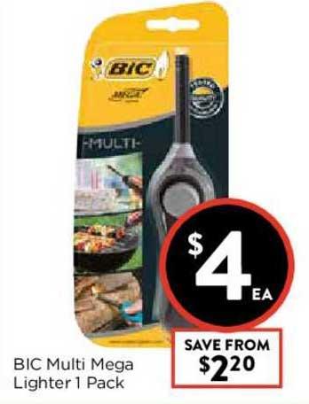 FoodWorks Bic Multi Mega Lighter 1 Pack