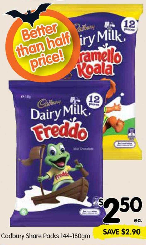SPAR Cadbury Share Packs 144-180gm
