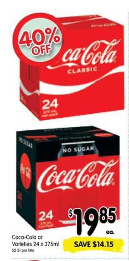 SPAR Coca-Cola Or Varieties 24 X 375ml