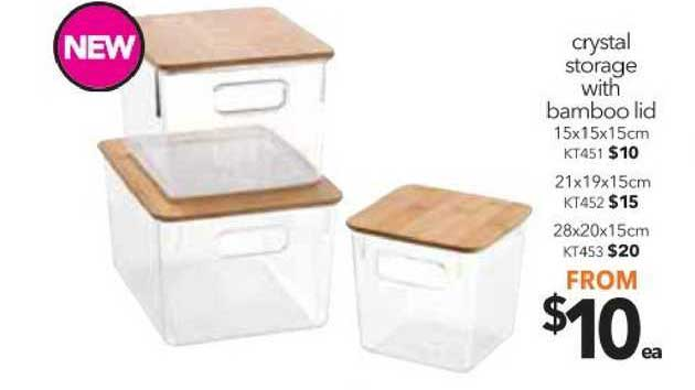 Cheap As Chips Crystal Storage With Bamboo Lid