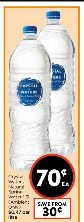 FoodWorks Crystal Waters Natural Spring Water 1.5L