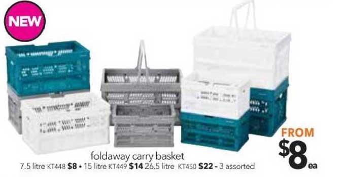 Cheap As Chips Foldaway Carry Basket