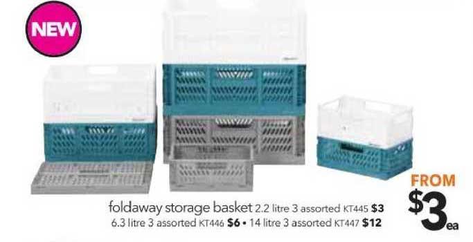 Cheap As Chips Foldaway Storage Basket