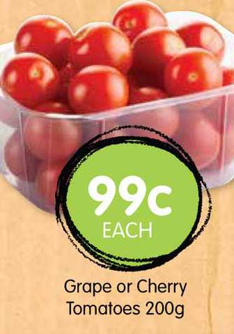 Spudshed Grape Or Cherry Tomatoes 200g