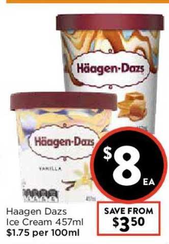 FoodWorks Haagen Dazs Ice Cream 457ml
