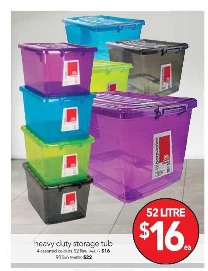 Cheap As Chips Heavy Duty Storage Tub