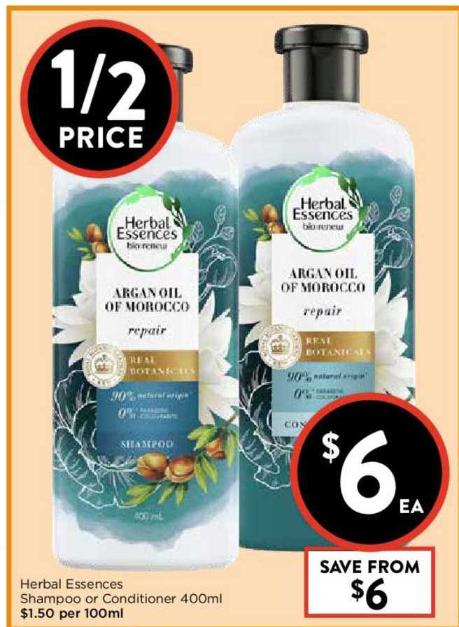 FoodWorks Herbal Essences Shampoo Or Conditioner 400ml