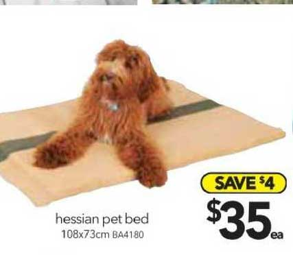 Cheap As Chips Hessian Pet Bed