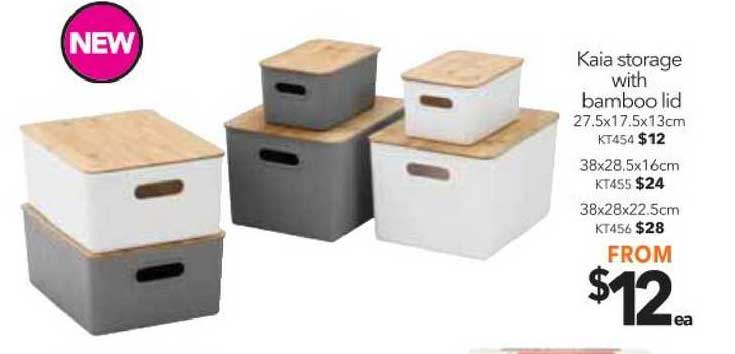 Cheap As Chips Kaia Storage With Bamboo Lid