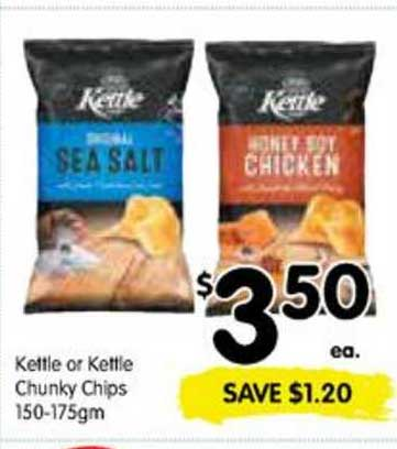 SPAR Kettle Or Kettle Chunky Chips 150-175gm
