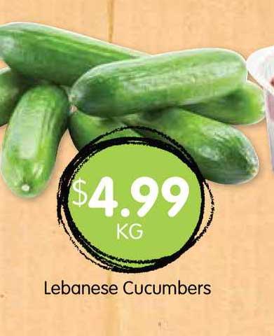 Spudshed Lebanese Cucumbers