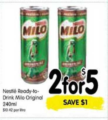 SPAR Nestlé Ready-To-Drink Milo Original 240ml