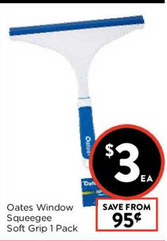 FoodWorks Oates Window Squeegee Soft Grip 1 Pack