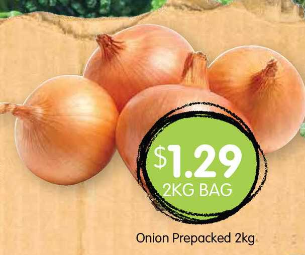 Spudshed Onion Prepacked 2Kg