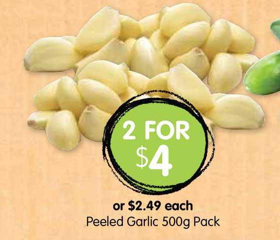 Spudshed Peeled Garlic 500g
