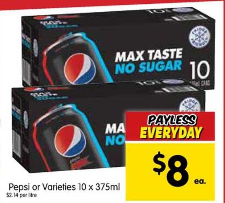 SPAR Pepsi Or Varieties 10 X 375ml