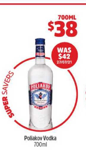 BWS Poliakov Vodka 700ml