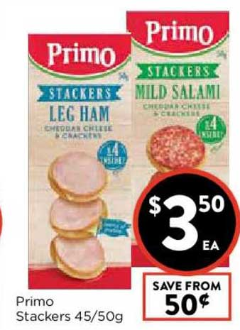 FoodWorks Primo Stackers 45-50g