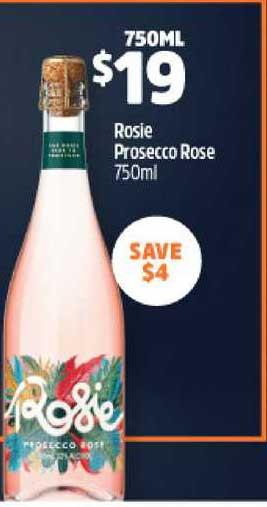 BWS Rosie Prosecco Rose 750ml