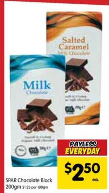 SPAR Spar Chocolate Block 200gm