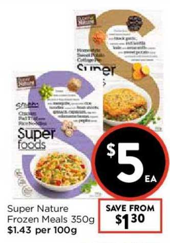 FoodWorks Super Nature Frozen Meals 350g