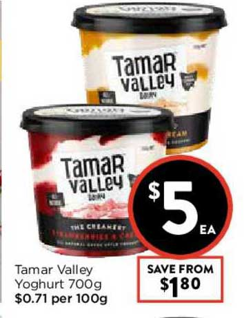FoodWorks Tamar Valley Yoghurt 700g