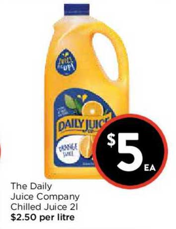 FoodWorks The Daily Juice Company Chilled Juice 2L