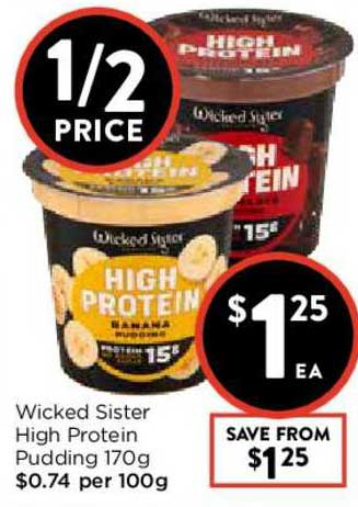 FoodWorks Wicked Sister High Protein Pudding 170g