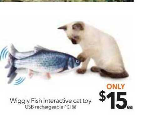 Cheap As Chips Wiggly Fish Interactive Cat Toy