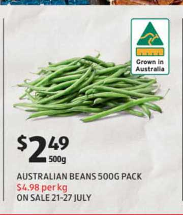 ALDI Australian Beans 500g Pack