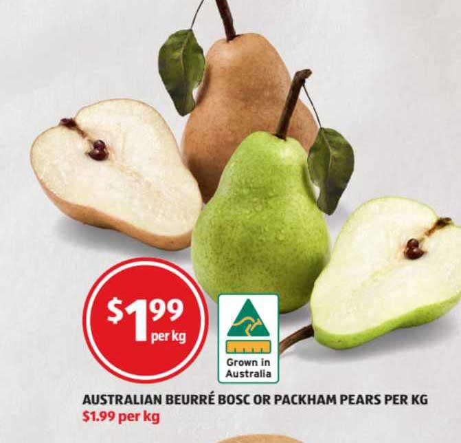 ALDI Australian Beurré Bosc Or Packham Pears