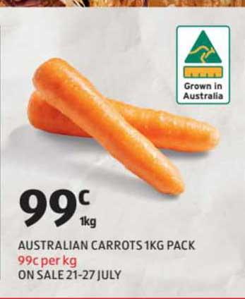 ALDI Australian Carrots 1Kg Pack