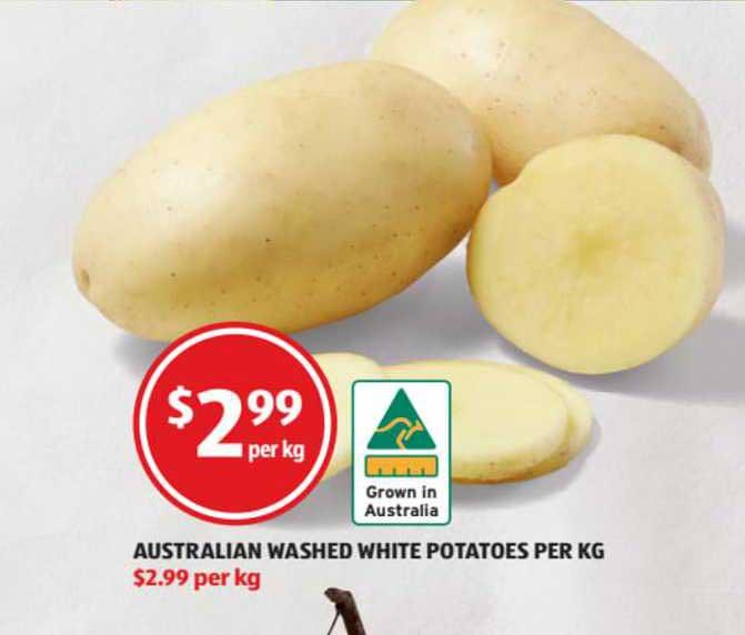 ALDI Australian Washed White Potatoes
