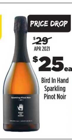 Liquorland Bird In Hand Sparkling Pinot Noir
