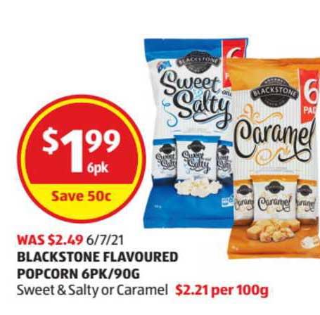 ALDI Blackstone Flavoured Popcorn 6Pk-90g
