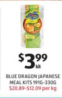 ALDI Blue Dragon Japanese Meal Kits