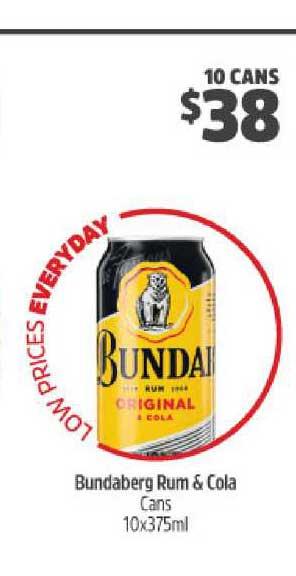 BWS Bundaberg Rum & Cola